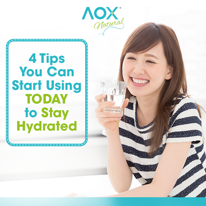 4 Tips You Can Start Using TODAY to Stay Hydrated