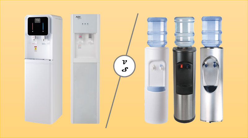 Pipe in or water bottle dispenser