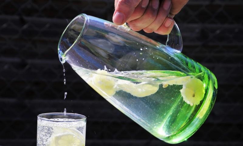 jug of homemade alkaline water