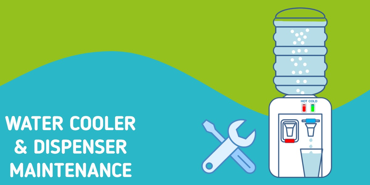 water cooler maintenance illustration