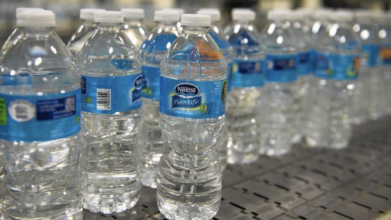 water bottles for distribution