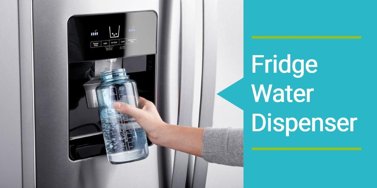 filling water glass from fridge dispenser